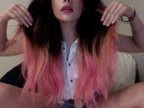 beautiful, fashion, girl, hair, lips, pink, red, style