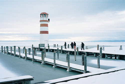 beautiful, ice, lighthouse, lonely, ocean, people, photo, photography, sad, sea, snow, water, winter