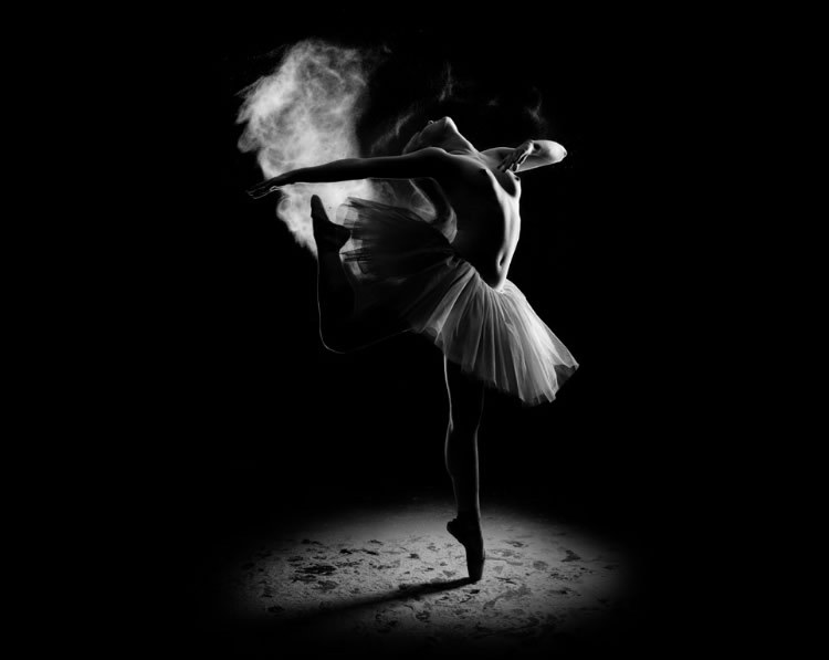 beauty, black and white, dance, dancer, girl