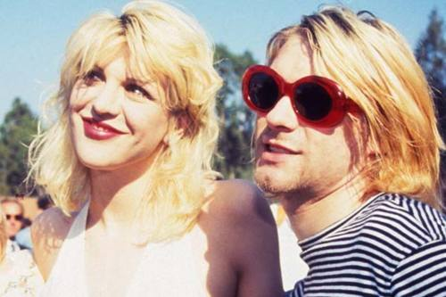beauty, blond, courtney love, fashion, kurt cobain, nirvana, rock, vintage