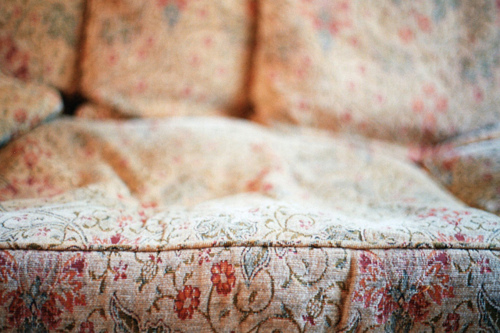 bed, bedroom, couch, floral, furniture
