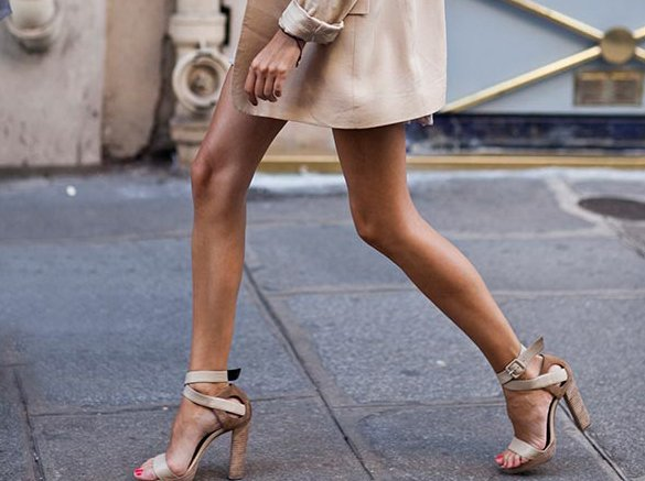 beige, chic, coat, elegant, fashion, girl, high heels, legs, shoes, street chic, style, tan