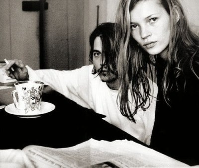 bella and edward, jhonny depp, kate and jhonny, kate moss, leather