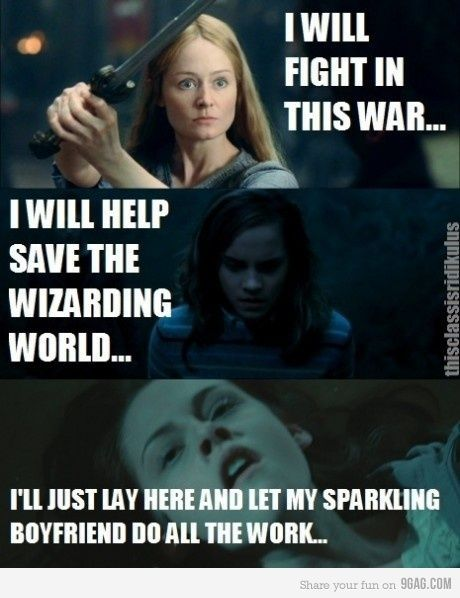 bella, funny, harry potter, hermione, lol
