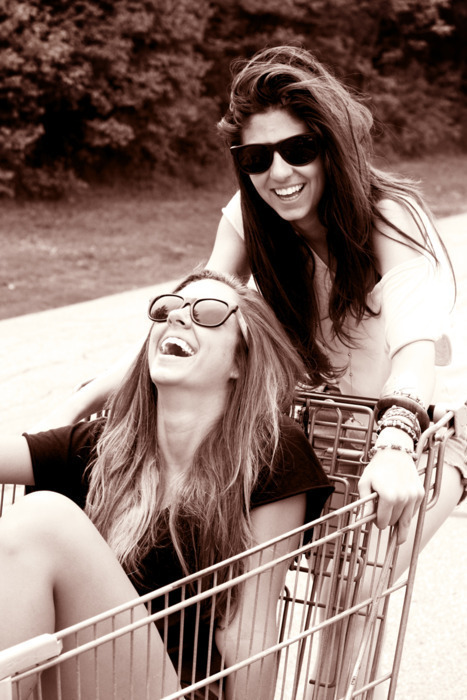 best freinds forever, best friend, bff, black and white, blonde