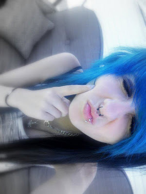 bi color, blue hair, deadly, ivana insomniac, kiss
