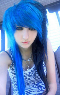 bi color, blue hair, deadly, ivana insomniac, lovely scene