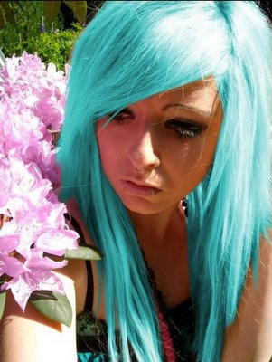 bibi barbaric, blue hair, gorgeous girl, scene, scene queen
