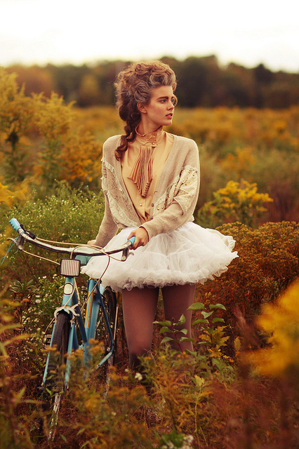 bicycle, bike, hair, hipster, indie, marie antoinette, style, summer