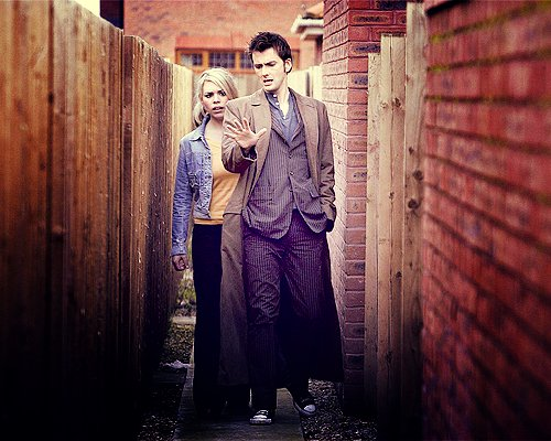 billie piper, david tennant, doctor, doctor who, rose tyler