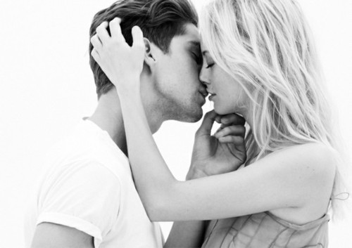 black and white, blackandwhite, boy, couple, cute, girl, kiss, photography, sexy