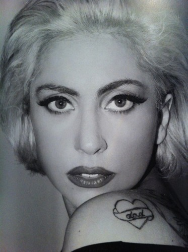black and white, gaga, ink, inked, lady gaga, tattoo, tattoos, unicorn