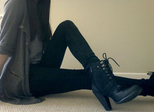 black, brown, brunette, cute, fashion, girl, hair, happiness, heels, love, model, outfit, perfect, pretty, shoes, skinny, style, thin