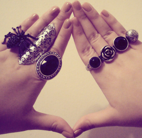 black, cute, fashion, gem, hands