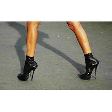 black, fashion, high heels, platforms, shoes, spike heels, style