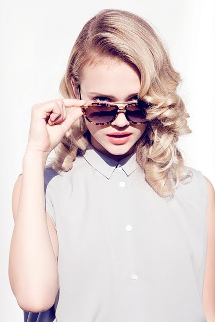 blonde, curls, fashion and girl