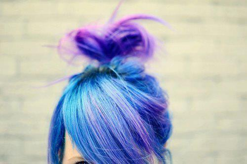 blue, dyed hair, hair, love it, purple