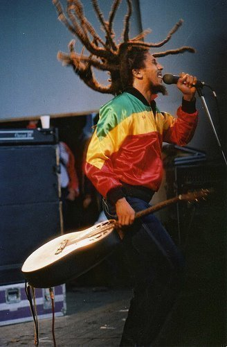 bob marley, dreadlocks, dreads, guitar, singing
