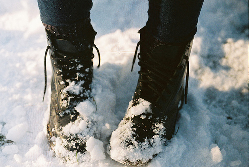 boots, combat boots, cute, love, snow, socks, winter