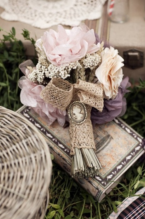 bouquet, flowers, lavender, pastel, pretty, vintage