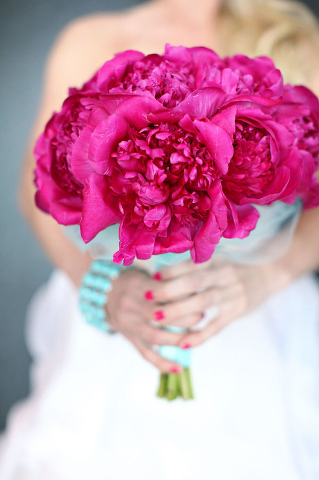 bouquet, flowers, peony, pink, wedding