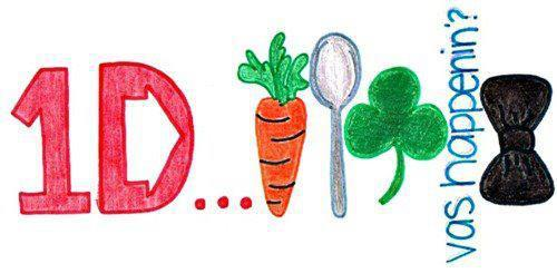 bow, boys, carrot, irish, love, luck, one direction, spoon, vas happening