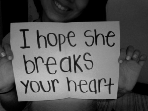break your heart, broken, girl, hate, paper