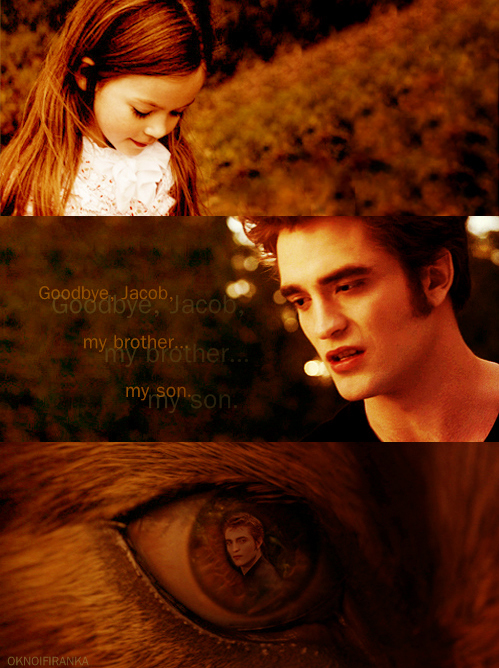 breaking dawn, edward cullen, imprinting, jacob black, jake, jake and nessie, jake black, love, nessie, nessie and jake, nessie cullen, quileute, renesmee carlie cullen, renesmee cullen, twilight saga, wolf, wolf and vampire