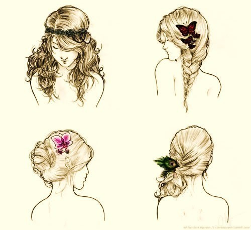 brown, chignon, doodle, draw, drawing, drawings, eyes, fleurs, flower, girl, guys look im popular, hair, hair styles, hairstyle, peacock, photography, pretty, scared, sketch, sketches, traisses