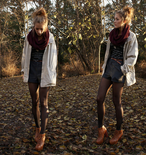 bun, fall, fall fashion, fashion, forest