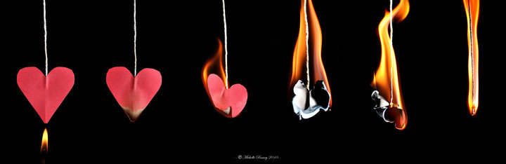 burn, fire, heart, love