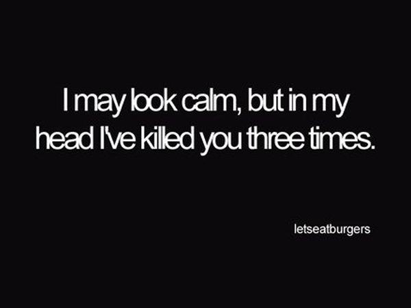 calm, funny, kill, text