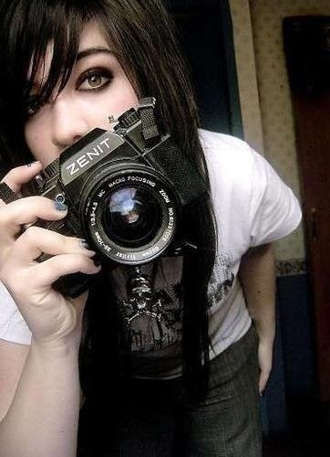 camera, cute, emo, girl, pretty, scene, zenit