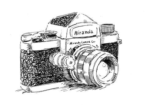 camera, design, drawing, old camera, photo