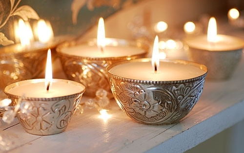candle, candles, cute, design, home, interior, light, silver, velas