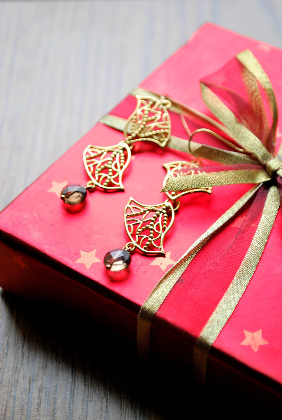 celebration, christmas, earrings, faceted, fashion