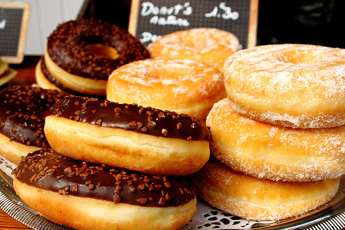 chocolate, donuts, sugar, yummie