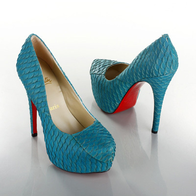 christian louboutin, fashion, high heels, pumps, red bottom, red sole, scales, stilettos