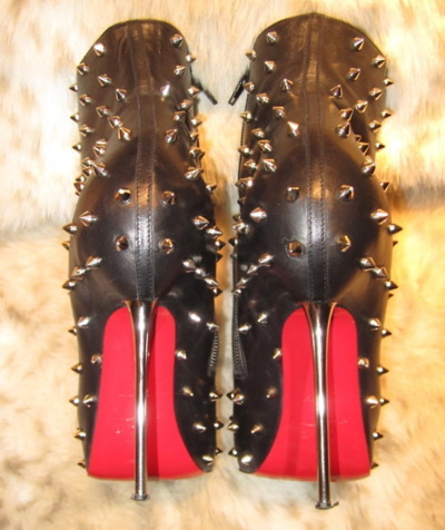 christian louboutin, heels, high heels, louboutins, loubs, red soles, spikes