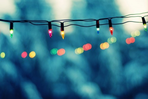 christmas, green, light bulbs, red, winter