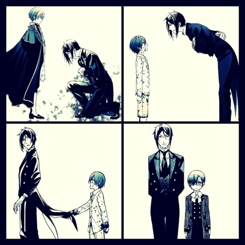 ciel phantomhive, kuroshitsuji, sebastian michaelis