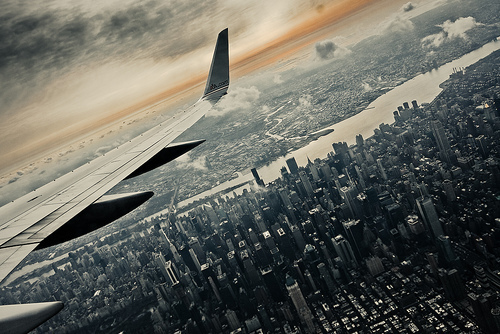 city, photography, plane, sky, town, view