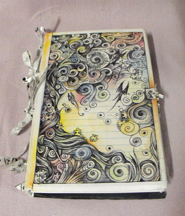 colorful, cool, creative, journal, nifty, puzzle, puzzle pieces, swirls