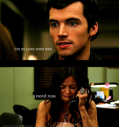 couple, cute, ezra, ezria, ian harding