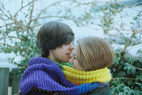 couple, cuteness, winter