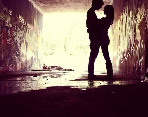 couple, love, romantic, under bridge