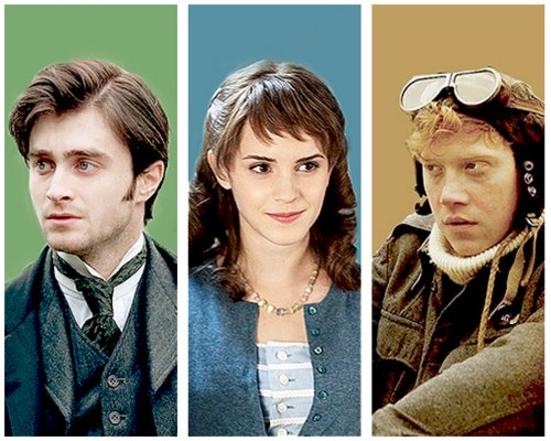 daniel radcliffe, emma watson, harry potter, my week with marylin, rupert grint
