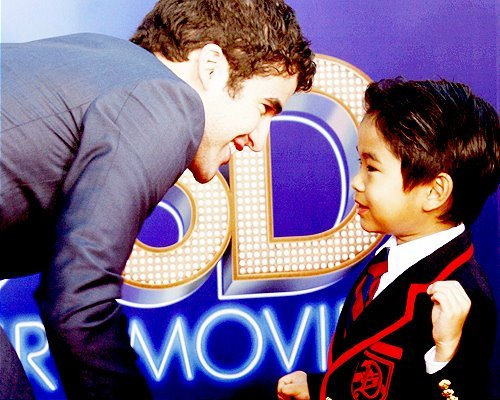 darren criss, glee, mini warbler