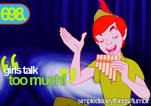 disney, funny, girls, peter pan, quote, simpledisneythings