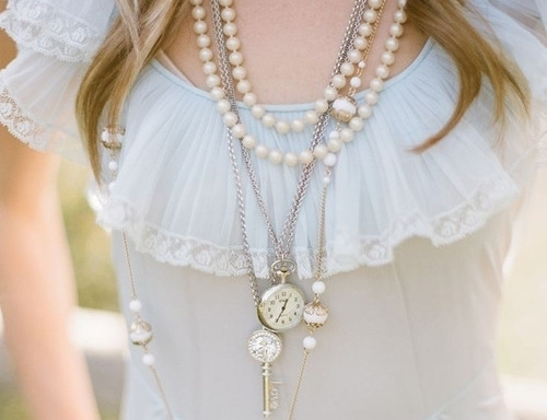 dress, girl, jewelry, lovely, necklaces